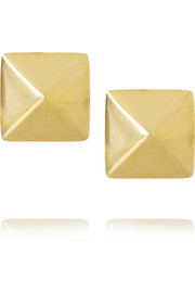 Spike 14-karat gold earrings