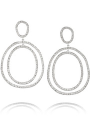 Ileana Makri Again 18-karat white gold diamond earrings