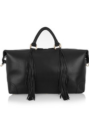 Eddie Harrop The Voyager fringed textured-leather weekend bag
