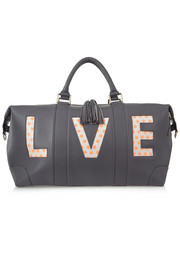 Eddie Harrop The Voyager textured-leather weekend bag