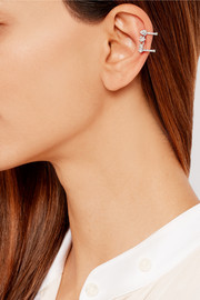 Repossi Serti Sur Vide 18-karat white gold diamond ear cuff