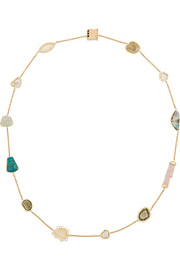 Gracie 18-karat gold multi-stone necklace