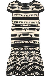 Darby intarsia knitted mini dress