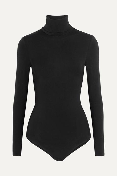 Black Colorado thong bodysuit   Wolford Ldeke1