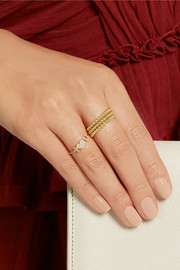 Set of three 18-karat gold ball rings