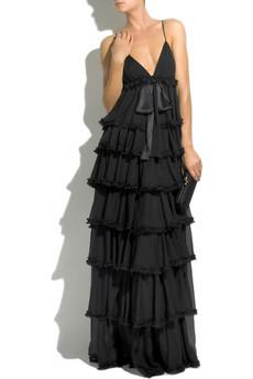 D&G Dolce & Gabbana|Tiered silk-chiffon gown|NET-A-PORTER.COM from net-a-porter.com