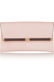 440 Envelope lizard-effect leather clutch