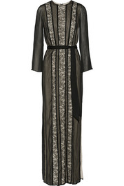 Kye lace-paneled georgette maxi dress