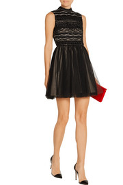 Taya embellished organza and tulle mini dress