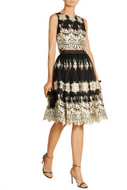 Justina embroidered tulle skirt