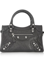 City mini textured-leather shoulder bag