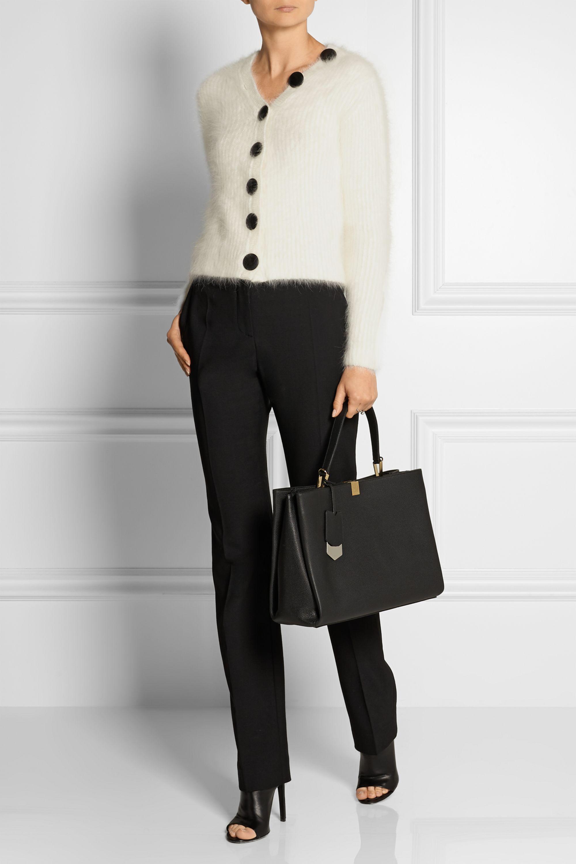 Black Le Dix Cabas textured-leather