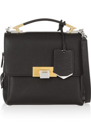 Le Dix mini textured-leather shoulder bag