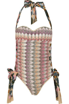 Missoni|Berna halterneck swimsuit|NET-A-PORTER.COM from net-a-porter.com