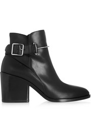 Bootie leather ankle boots