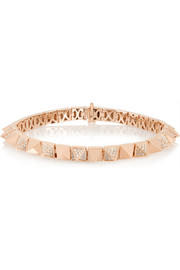Spike 18-karat rose gold diamond bracelet