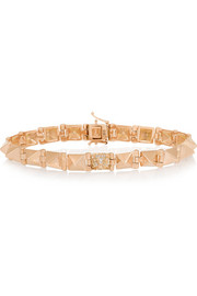 Spike 14-karat rose gold diamond bracelet