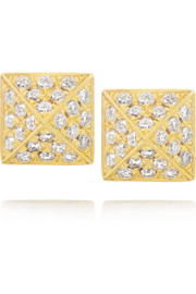 Spike 18-karat gold diamond earrings