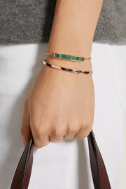 Baja rose gold-plated, emerald and diamond bracelet