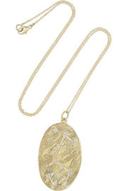 Scorpio 14-karat gold diamond necklace