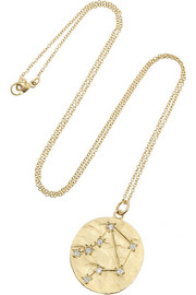 Libra 14-karat gold diamond necklace