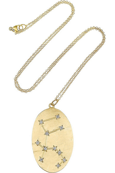 Aquarius 14-karat Gold Diamond Necklace - one size Brooke Gregson ztbHRyb