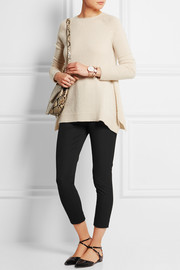 Cropped stretch-gabardine skinny pants
