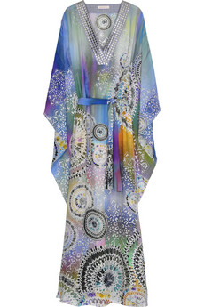 Matthew Williamson | Printed chiffon long kaftan | NET-A-PORTER.COM