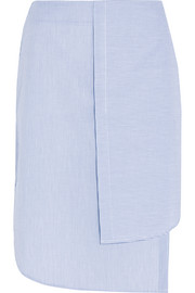 Dion Lee Layered striped cotton-poplin skirt