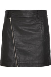 Leather mini skirt