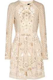 Embellished chiffon mini dress