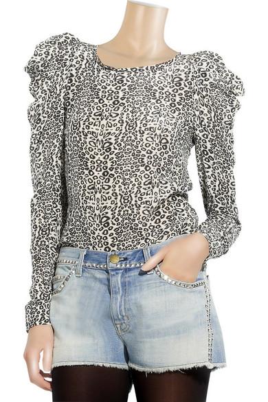 ad85392c15f15 Maje. Silk leopard-print blouse