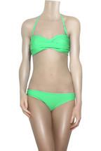 Rosa CháRuched bandeau bikini