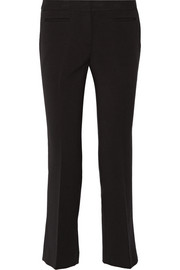Cropped stretch-woven flared pants