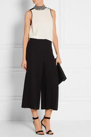 MICHAEL Michael Kors Embellished stretch crepe de chine top