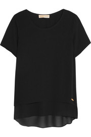 MICHAEL Michael Kors Tiered crepe top