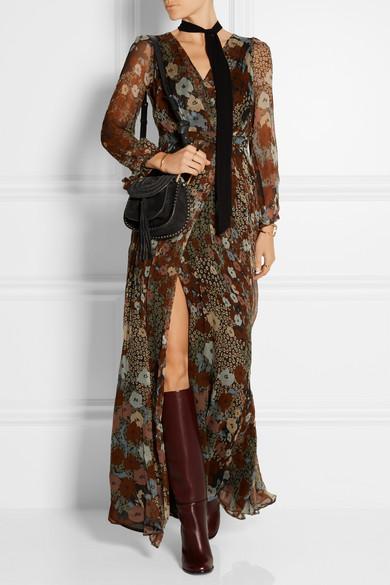 Chlo�� | Hudson mini whipstitched suede shoulder bag | NET-A-PORTER.COM