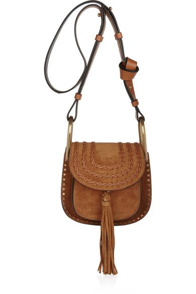 8810bcb87a86 Chloé. Hudson mini whipstitched suede shoulder bag