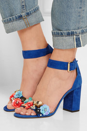 Collection embellished suede sandals
