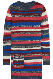 Rockin Moroccan striped cashmere mini sweater dress