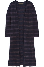 Mr Simple striped cashmere cardigan