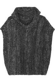 The Elder Statesman Malta mélange cashmere hooded poncho