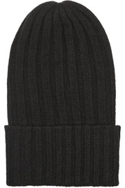 The Elder Statesman Bunny Echo ribbed cashmere beanie