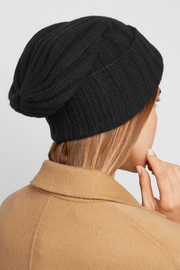 Bunny Echo ribbed cashmere beanie