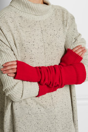 The Elder Statesman Wool and cashmere-blend arm warmers