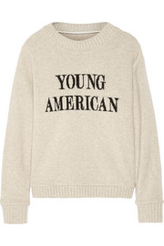 Young American intarsia cashmere sweater