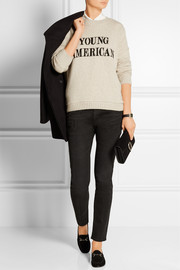The Elder Statesman Young American intarsia cashmere sweater
