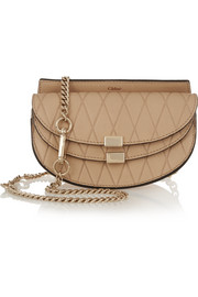 Chloé Georgia convertible embossed leather belt bag