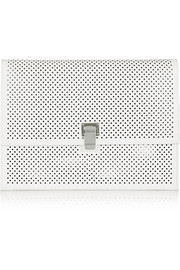 The Lunch Bag large perforated leather clutch