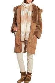 Chloé Snow Capsule oversized shearling and quilted shell parka